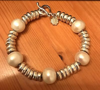 Dower And Hall Silver And White Pearl Bracelet