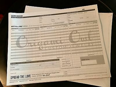 Origami Owl Order Forms