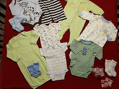 13 piece LOT of BABY BOY clothes size 0-3 Months
