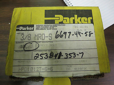 Nos Lot Of (14) Parker Hannifin 3/8 Mro-S  Street Tee Fittings
