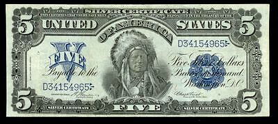 1899 Silver Certificate $5.00 Indian Sioux Chief Note Fr. #273