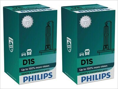 2x NEW PHILIPS XTREME VISION +150% D1S 85415 XV2C1 4800K HEADLIGHT GERMANY GEN 2