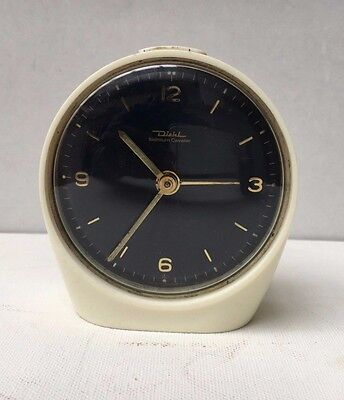 Vintage Retro Diehl Space Age Alarm Clock 1960's/ 70's - Working