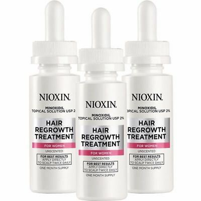 NIOXIN Minoxidil Hair Regrowth Topical Solution USP 2% for women 6 oz/ 3 months