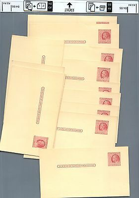 Stamp A group of 13 unused 2 cent Franklin POSTCARD