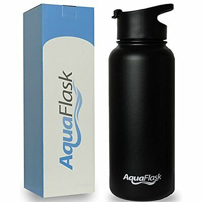 Sports Water Bottles AquaFlask 32oz Vacuum Insulated Stainless Steel Water Wide