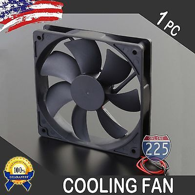 "6"" Square Cooling Fan with 1"" Depth 12 Volt Rotary Plastic Amplifier Computer"