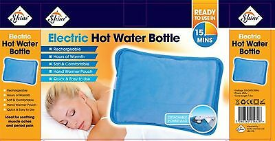 Rechargeable Electric Hot Water Bottle Bed Hand Cozy Soft Warmer Massaging Heat