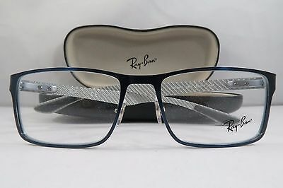 9c1bcd5895 Ray-Ban RB 8415 2881 Blue Carbon Fibre New Authentic Eyeglasses 53mm w Case