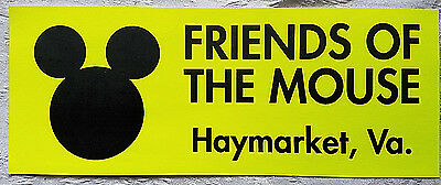Very Rare Disney's America Theme Park Friends Of The Mouse Bumper Sticker