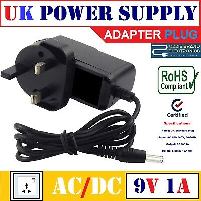 Uk 9V Ac/dc Power Supply Adapter Charger For Kane 425/455/250 Flue Gas Analyser