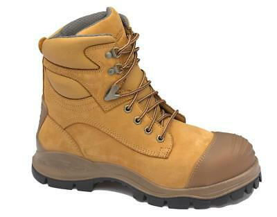 Blundstone 998 Boot Lace Up Ankle Nubuck Wheat Rubber Sole Size 10H Pair
