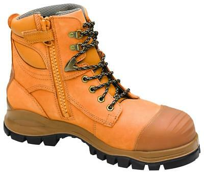 Blundstone 992 Lace Up/Zip Safety Boot Rubber Sole Wheat Size 10.5