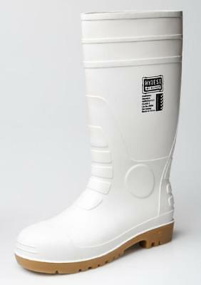 Oliver 10-110 Safety Gumboots White/Tan Size 12