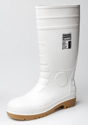 Oliver 10-110 Safety Gumboots White/Tan Size 10