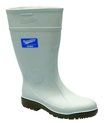Blundstone 004 Waterproof Gumboot For Food Industry White Size 9