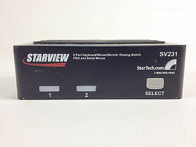 Startech SV231 2 Port Professional PS/2 KVM Switch PS/2 VGA - Used