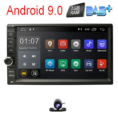 """Android 7.1 4G WIFI 7"""" Double DIN Car Radio Stereo No-DVD Player GPS Nav HD DAB+"""