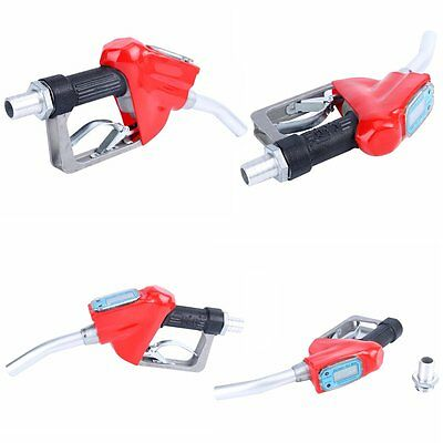 Fuel Gasoline Diesel Deliver Gun Petrol Oil Nozzle Dispense Digital Flow Meter