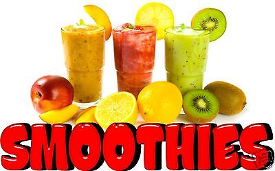 "Smoothies Decal 10"" Fresh Fruit Drink Concession Food Truck Vinyl Sign Sticker"