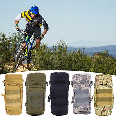 Military Molle Water Bottle Bag Kettle Pouch + Mess Pouch Tactical Outdoor Gear