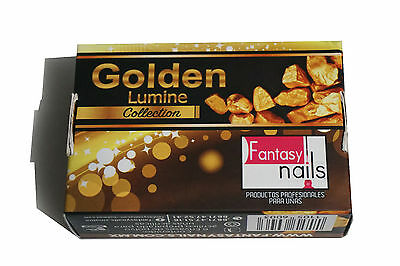 Fantasy Nails Sinaloa - Golden Collection  Acrylic Powder - set of 6  - Dorados