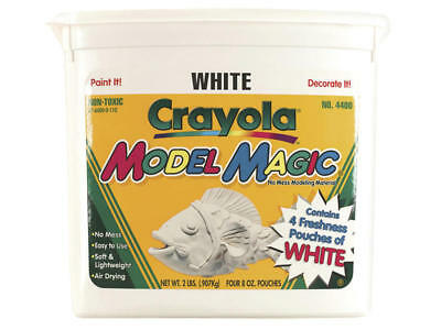 Crayola Re-Sealable Model Magic White 4X227g Tub 900g