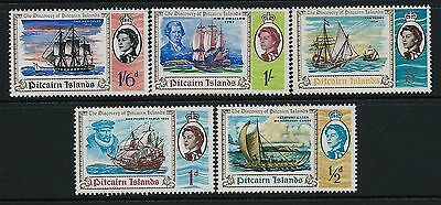 1967 Pitcairn Islands Discovery Bicentenary Set Of 5 Fine Mint Mnh/muh Sg64-68