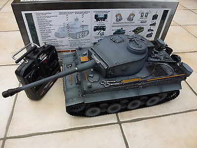 Taigen 1/16 2.4 GHz RC German Tiger 1 Early Production Grey BB Tank Plastic Trks