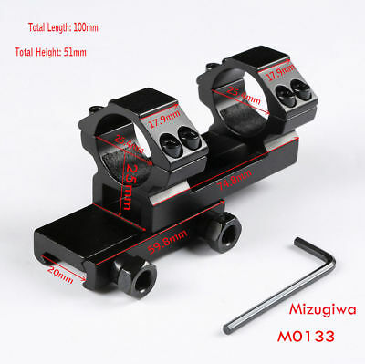 """1PCS Tactical Cantilever 1"""" Ring 21mm Picatinny Rail Scope Mount For Rifle Scope"""