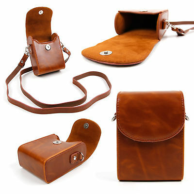 Faux Leather Vintage Brown Case For Nikon Aculon AL11