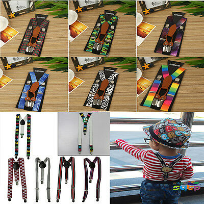 Adjustable Suspender Clip-on Braces and Bow Tie Set for Baby Toddler Kids Boys G
