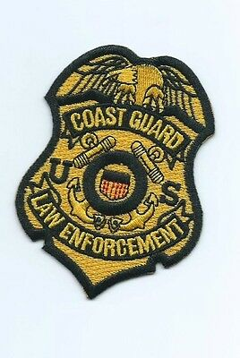 Obsolete United States Coast guard USCG Law enforcement patch 3-1/4X2-3/8 #1652