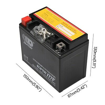 YTX12-BS AGM 12V Motorcycle BATTERY For Honda Kawasaki Triumph Bikes