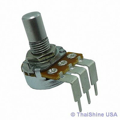 2 x 100K OHM Linear Taper Potentiometer Round Shaft PC Mount - USA Seller