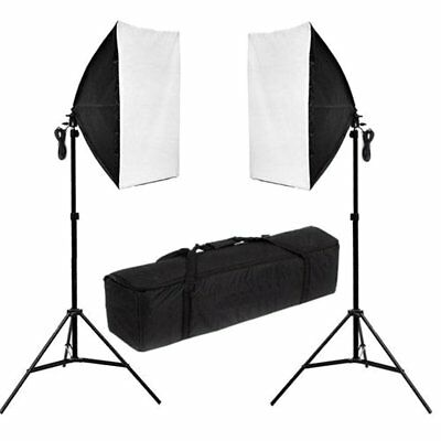2 x 135w Photo Photography Studio Continuous Lighting Soft Box Light Stand Kit