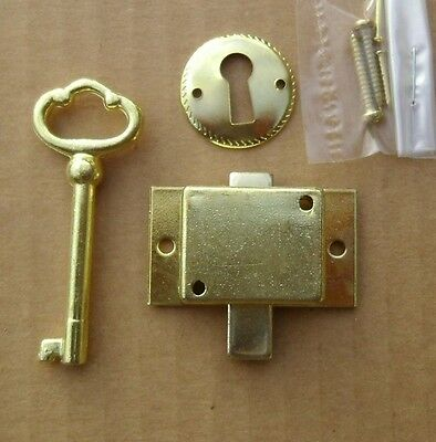 2 Cabinet Door Lock Sets W/ Key Curio Grandfather Clock China NEW Replacement