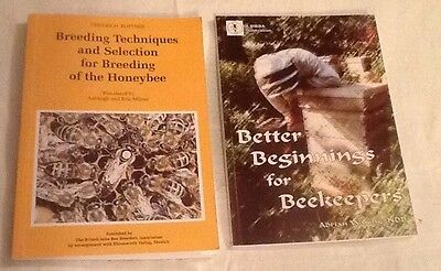 Official bee books X2 Better Beginnings for Beekeepers & Breeding...the Honeybee