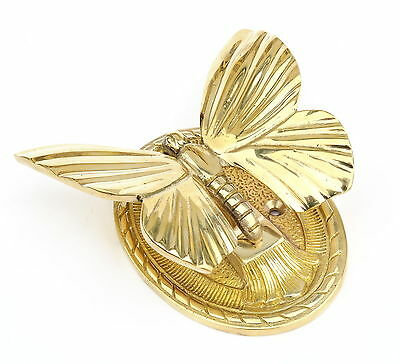 Solid Brass Butterfly Door Knocker - antique vintage country style door knockers