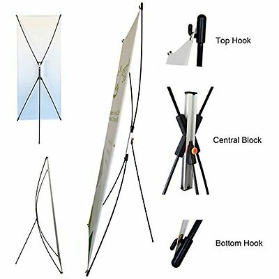 TheDisplayDeal Store Sign Holders Premium Adjustable Banner Stand fits Banner to