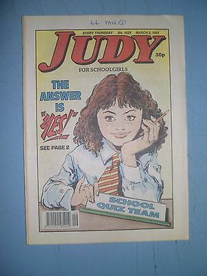 Judy issue 1625 dated March 2 1991