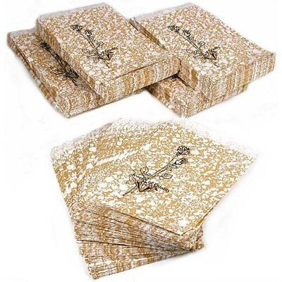 500 Jewelry Boxes Gold Paper Gift Bags Shopping Sales Tote Bags 4 x 6quot;