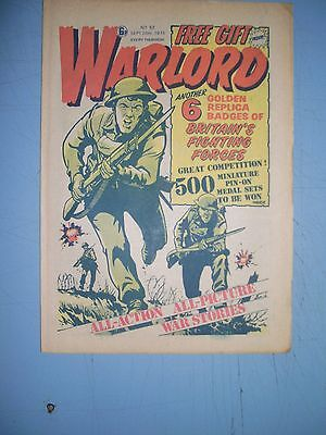 Warlord issue 52 dated September 20 1975