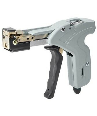 Stainless Steel Cable Tie Gun w/ 4 Levels Adjustable Tension & Automatic Cutter