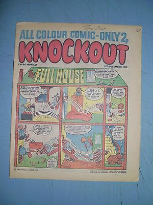 Knockout issue dated December 11 1971