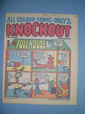 Knockout issue dated December 4 1971