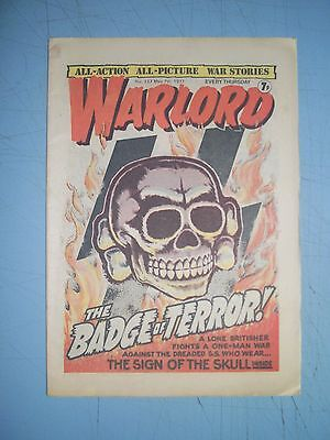 Warlord issue 137 dated May 7 1977