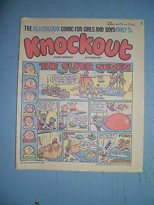 Knockout issue dated July 31 1971