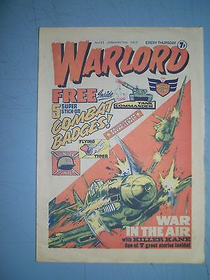 Warlord issue 121 dated January 15 1977