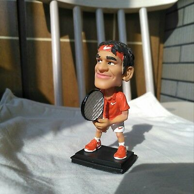 Roger Federer Bobble Heads Tennis Figure Art Designed By Artist